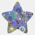 Asian Blue Star Sticker