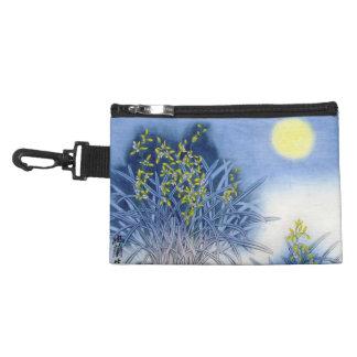 Asian Blue Watercolor Accessory Bag