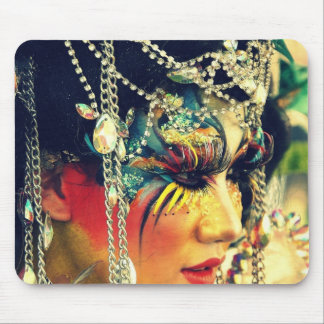 Asian Body Painting Mouse Pad
