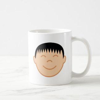 Asian Boy Face Coffee Mug
