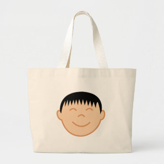 Asian Boy Face Jumbo Tote Bag