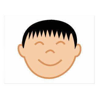 Asian Boy Face Post Cards