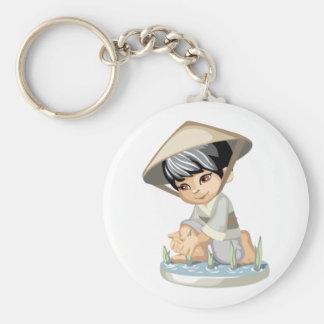 Asian Boy Keychain
