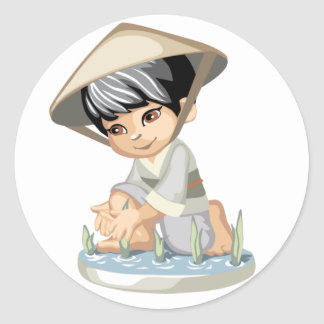 Asian Boy Sticker