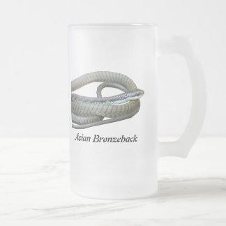 Asian Bronzeback Frosted Glass Mug