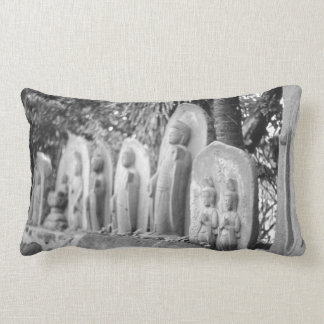 Asian Buddhist cemetery statue Grave Stones Decor Lumbar Pillow