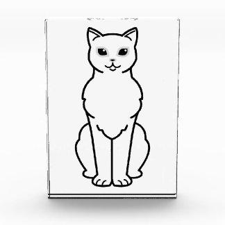 Asian Burmilla Cat Cartoon Acrylic Award