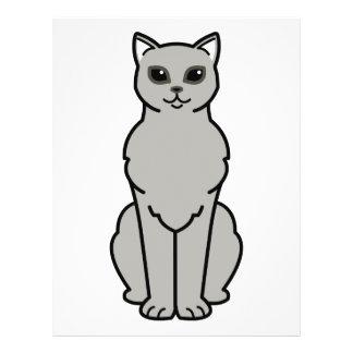 Asian Burmilla Cat Cartoon Flyer
