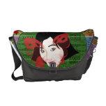 Asian Butterfly Girl Messenger Bags