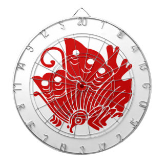 Asian Butterfly Japanese Kamon Design Dartboard