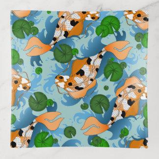 Asian Carp Koi Pond & Lilys Trinket Trays