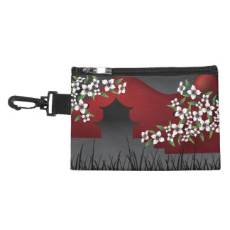 Asian castle at night clip-on bag