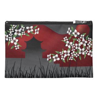 Asian castle blossom red accessory bag