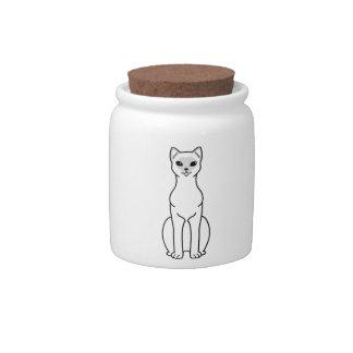 Asian Cat Cartoon Candy Jar