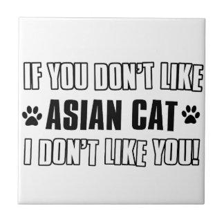 asian cat cat designs ceramic tile