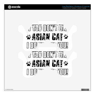 asian cat cat designs skins for PS3 controllers