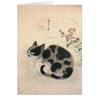 Asian cat notecard