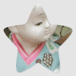 Asian ceramics, figure of a baby star sticker