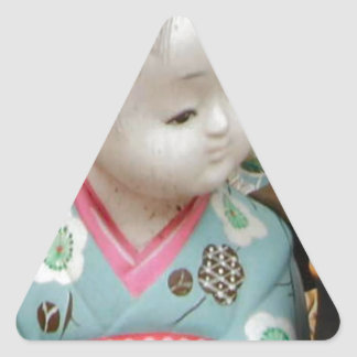 Asian ceramics, figure of a baby triangle sticker