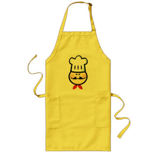 Asian chef long apron