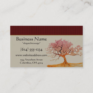Cherry blossoms business cards zazzle asian cherry blossom tree business cards colourmoves