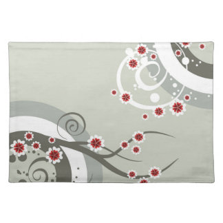 Asian Cherry Flowers Placemat Cloth Place Mat