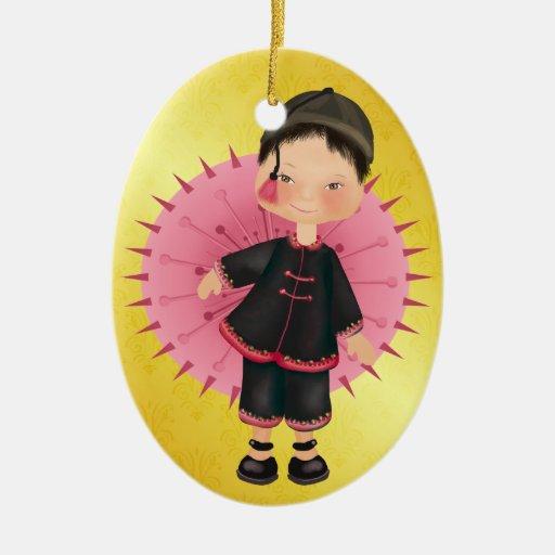 Asian Child - SRF Christmas Ornament