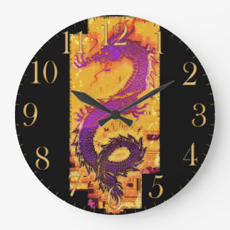 Asian, Chinese,Mythical Dragon, Year of the Dragon Large Clock