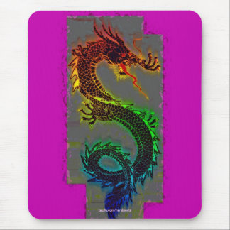 Asian, Chinese,Mythical Dragon, Year of the Dragon Mouse Pad