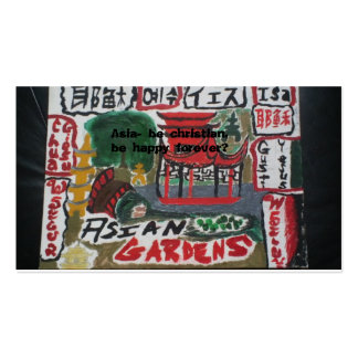 Asian christian tract cards/multi language business cards
