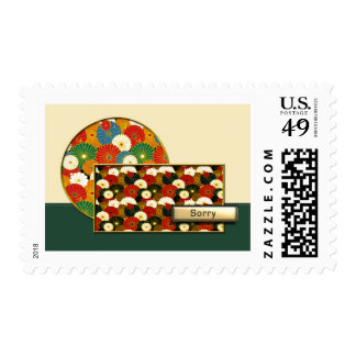 Asian Chrysanthemums Sorry Postage Stamp