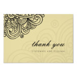 Asian Cream Swirl Wedding Thank You Card