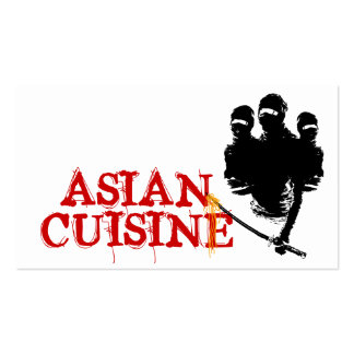 asian cuisine : ninja noodles Double-Sided standard business cards (Pack of 100)