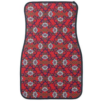 Asian decorative flower pattern. floor mat