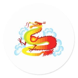 Asian Dragon in Clouds sticker