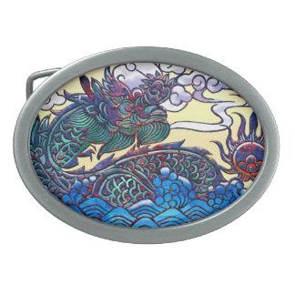 Asian Dragon Medallion Belt Buckles