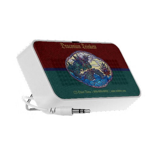 Asian Dragon Medallion Laptop Speaker