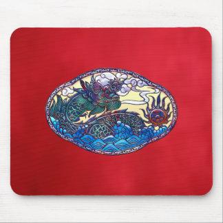Asian Dragon Medallion Mouse Pad