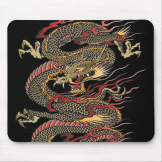 Asian dragon mouse pad