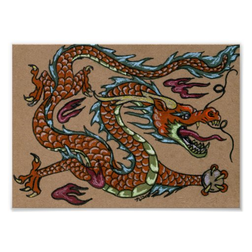 Asian Dragon Poster
