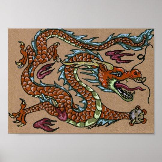 Asian Dragon Poster