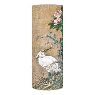 Asian Egret Birds Rose Flowers Flameless Candle