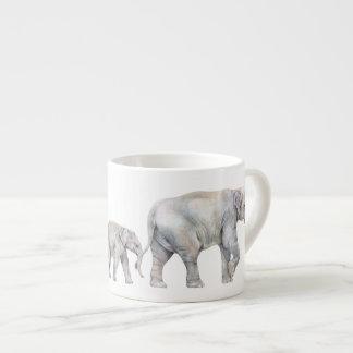 Asian Elephant Family Espresso Cup