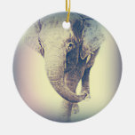 Asian Elephant in vintage colors Ornament