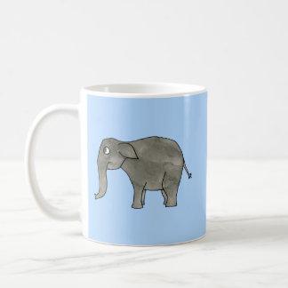 Asian Elephant, on light blue. Coffee Mug