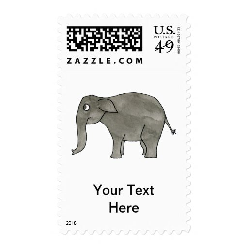 Asian Elephant. Postage Stamps