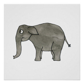 Asian Elephant. Poster