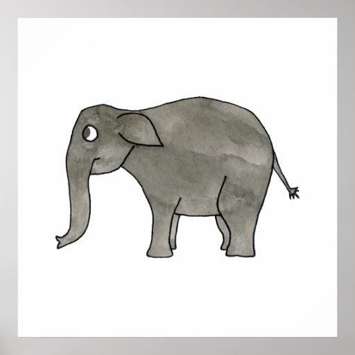 Asian Elephant. Print