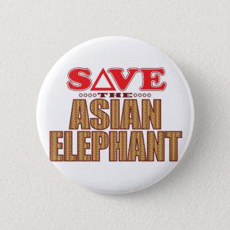 Asian Elephant Save Pinback Button