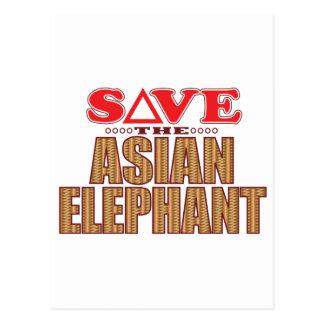 Asian Elephant Save Postcard
